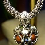 silberne Perlen-Kugel